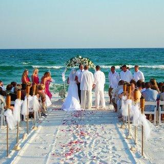 Decoração de casamento cerimônia na praia