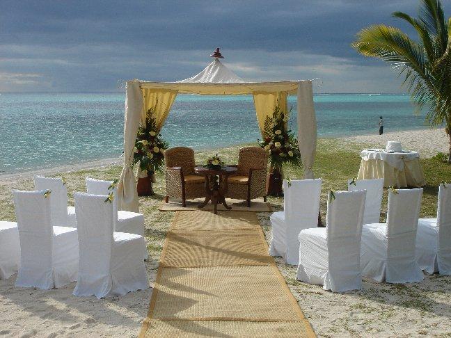 Decoração de casamento a beira mar