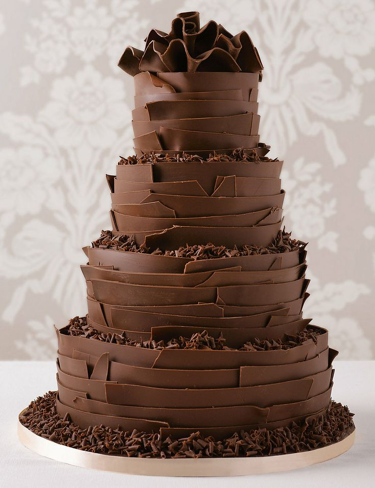 Bolo de chocolate de casamento