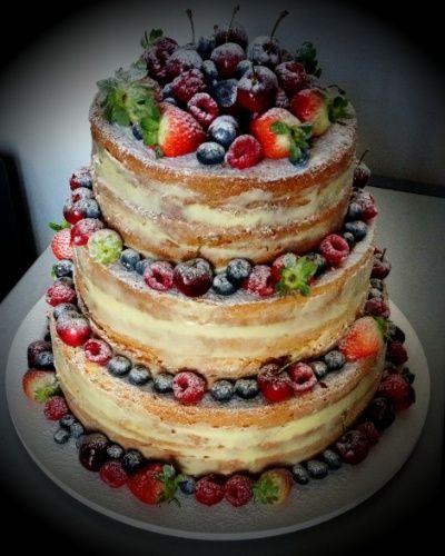 Bolo de casamento de frutas