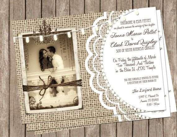 convite para casamento retro