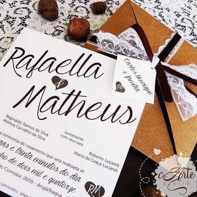 convite simples de casamento